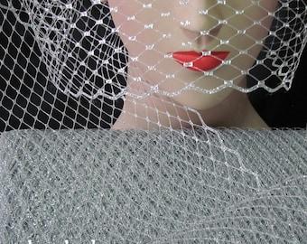Silver Metallic Millinery Hat Veiling
