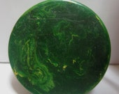 Bakelite Catalin Checkers Backgammon 6 Pcs Mottled GREEN These all have AGED Lines as shown  in photo.
