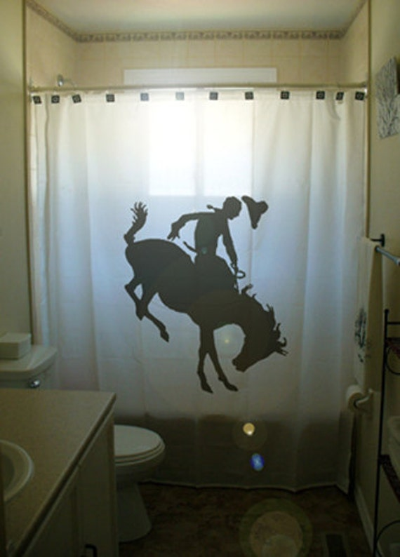 Bucking Bronco Shower Curtain Horse by CustomShowerCurtains