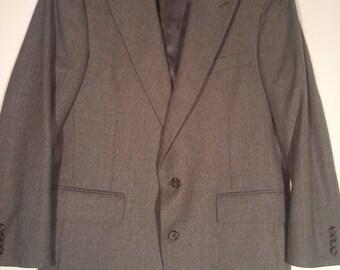 Men vintage grey blazer cocktail jacket 40 42 M L grunge punk 80s wool