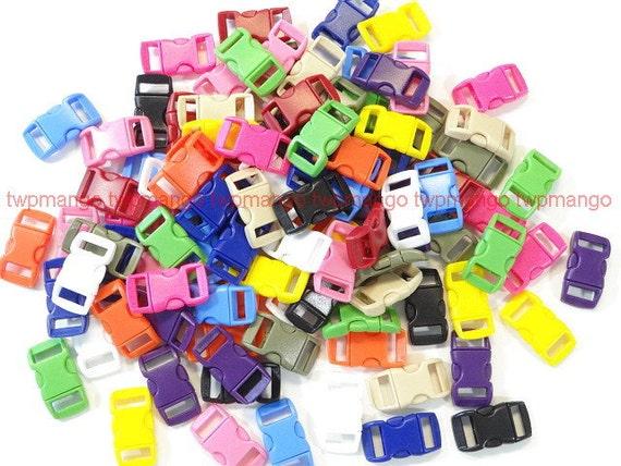 100 3/8 Contoured Side Release Buckles...13 Colors Paracord Straps Paracord Bracelets....... H91-100