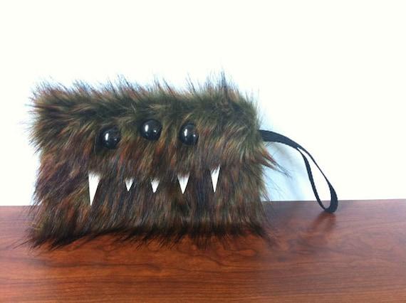 Werewolf Monster Pocket- Three Black Eyes