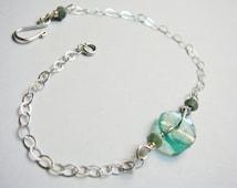 Ancient Roman Glass Bracelet   Ancient Roman Glass Jewelry   Ancient Roman Glass Beads   Sterling Silver Bracelet
