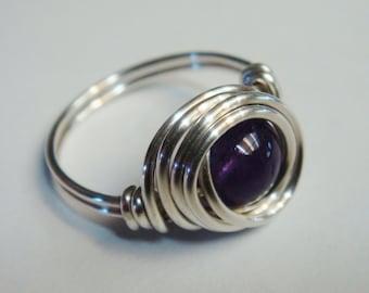 Amethyst Ring   Amethyst Jewelry   Amethyst Gemstone  Sterling Silver Ring   February Birthstone Ring