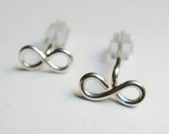 Infinity Earrings   Sterling Silver Post Earrings    Friendship Jewelry   Stud Earrings
