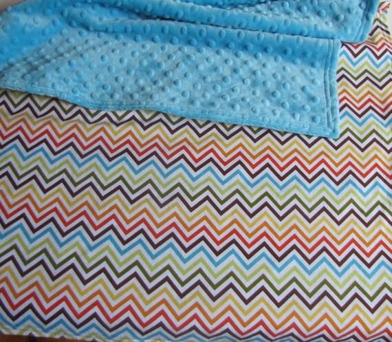 Chevron Baby Blanket - Gender Neutral-  READY TO SHIP