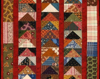 """Stacked Geese """"Little Quilt"""" Pattern"""
