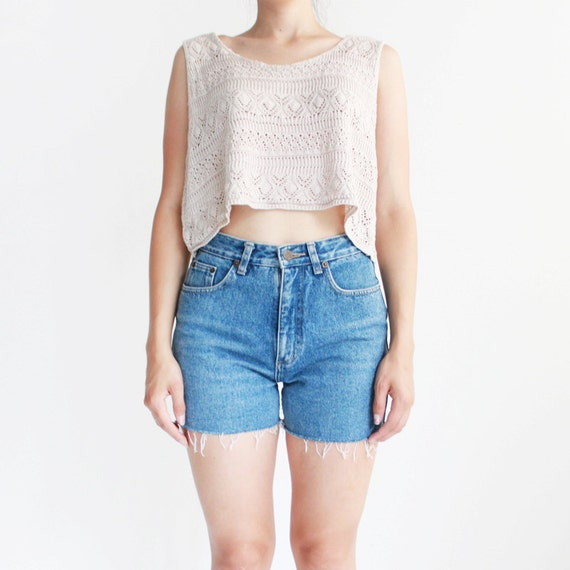 Calvin Klein shorts - Short shorts - high waisted denim shorts - small