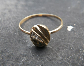 Art Deco 18kt gold stacking ring - vintage