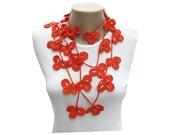 PDF Tutorial  Pattern... Crochet Scarf, Lariat  Necklace -1