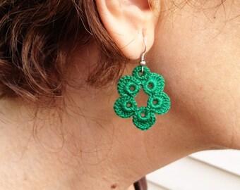 Instant Download, Earrings, Crochet Pattern, Earrings Pattern,Tutorial Crochet Pattern, Cotton Crochet