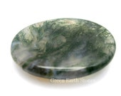 Moss Agate  Worry Stone, Crystals, Palm Stone, Crystals and Stones, Polished,