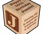 Birthday Gift, Celebration, Personalized, Block