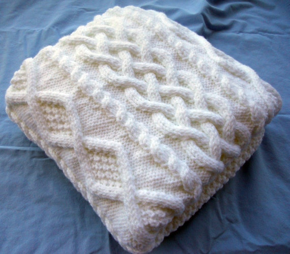 Chunky Knitted Baby Blankets Chunky hand knit baby ...