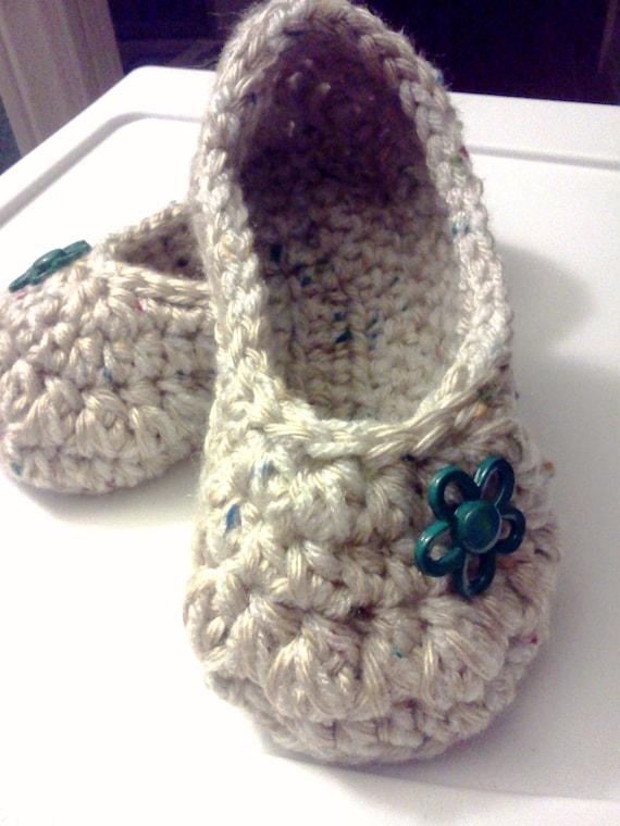 Women's Crochet Oatmeal Slippers | Oatmeal Crochet Slippers | Hand Crochet Slippers | House Shoes | Crochet Booties | Slippers