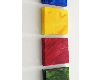Kids Room Decor - Kids Room Art - Custom Letters for  Kids Room - Mini Canvas Art Squares - 5x5