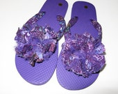 Purple flip flops Special order for JoAnn