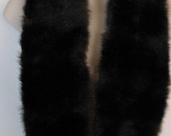 Fur Boa Wrap Scarf in Dark Brown Faux Fur