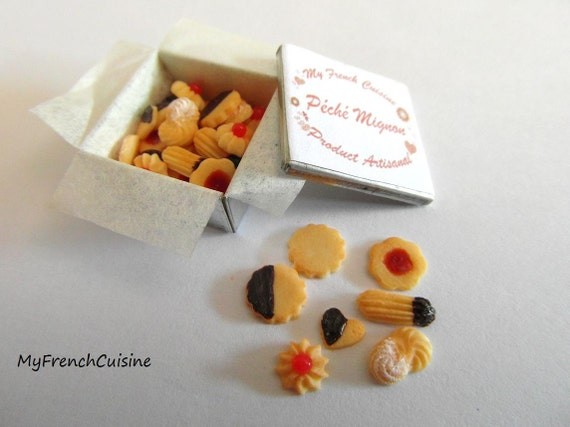 Little Tin of french butter cookies - Biscuits Peche Mignon