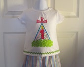 Baby Girl Size 12 Month Birthday Shirt, with Party Hat Applique, Birthday Number,Monogram