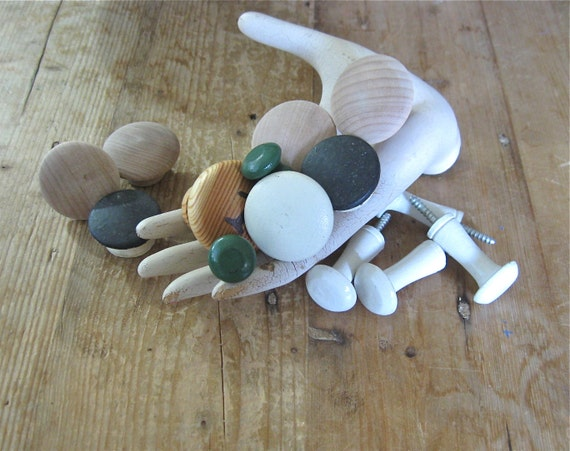 12 wood knobs, dresser pulls, wooden handles, cabinet, wardrobe, drawer,