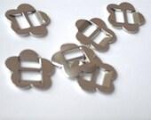 Metal flower buckles for jewellery, accessories, belts -  6 pieces