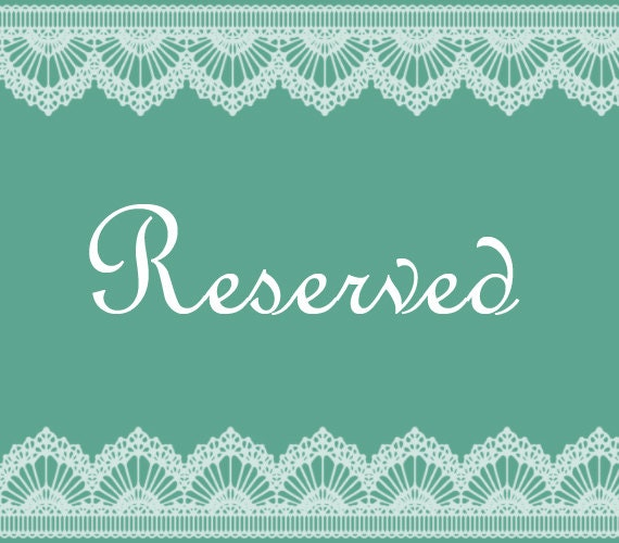 Reserved Listing for Deanna