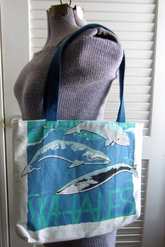 Upcycled Tote Bag made from a Whale Towel
