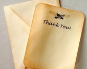 travel Thank you cards wedding  airmail rustic Set of 20