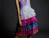 Not your mother's wedding dress Rainbow alternative wedding dress or formal gown