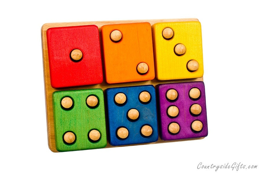 Stacker Blocks Hardwood Domino Stacker Toy Colored For Baby