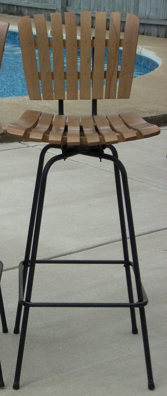reserved for Tiffany Mid Century Tiki Arthur Umanoff Swivel Bar Stool Chair
