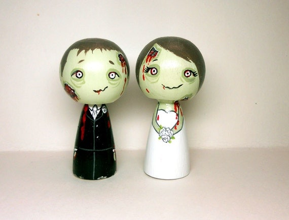 Zombie Wedding Cake Toppers
