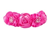 Dog Collar, Wedding / Bridal / Party Collection (Available in 27 Colors, Shocking Pink / Fuchsia)