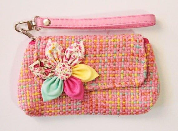 PROMOTION Buy 3 Get 1 FREE- Pink Wristlet For Cell phone blackberry