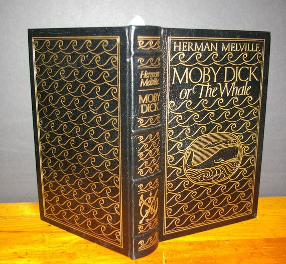 Hollow Book Safe Moby Dick Easton Press Leather 22k Gold