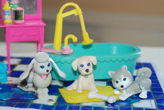 Vintage Littlest Pet Shop Splash Happy Grooming Play Set