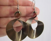 Large Infinity Earrings, Antiqued Brass Earrings