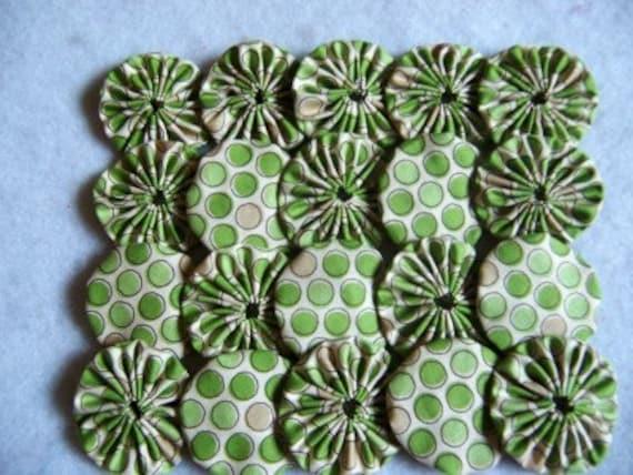 10 Handmade 2 inch  Yo Yos YoYo Pieces Embellishments Suffolks Puffs Rosettes Accessories Quilt Block Scrapbooking Applique