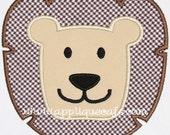 341 Lion Face Machine Embroidery Applique Design