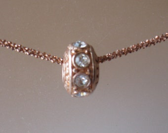 Something Sparkling, Something Rose Gold...necklace