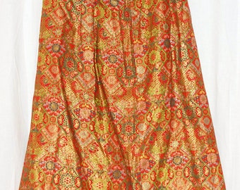 Exotic Asian BAROQUE  PeNCiL Skirt PsycheDeLiC  BoLLYWOOD Vintage 70s
