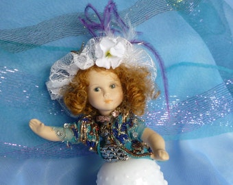 White Lady, Glass Avon Lady, Art Doll by mystic2awesome
