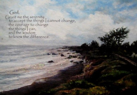 QuoteHanger of The Serenity Prayer