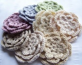 Organic cotton flower crochet choose one 3 inch