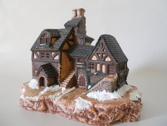 Christmas Village Bakery - handpainted ceramic