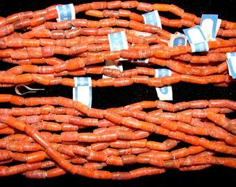 Imitation Coral Glass Primitive Tibetan Beads Destash