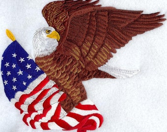 BALD EAGLE- Machine Embroidered Quilt Blocks (AzEB)