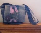 Purple Batik Style Elephant Print Hip Bag