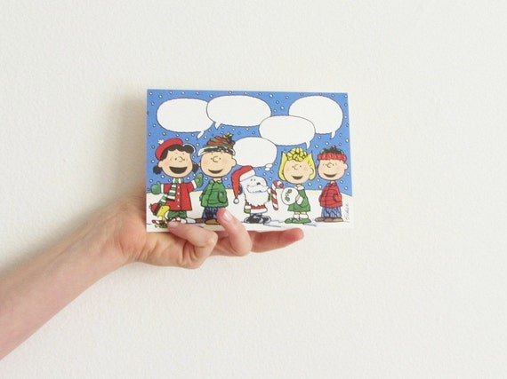 charlie brown and friends christmas card set of 10 .sale s a l e